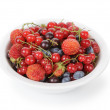 Stock Photo: Fresh garden berries in bowl