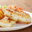 Roasted codfish fillet with vegetables — Stock Photo #39854123