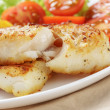 Roasted codfish fillet with vegetables — Stock Photo #39854141