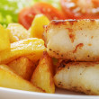 Roasted codfish fillet with vegetables — Stock Photo #40800765
