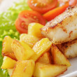 Roasted codfish fillet with vegetables — Stock Photo #40800771