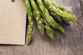 Bunch of green asparagus close up — Stockfoto