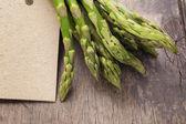 Bunch of green asparagus close up — Foto de Stock
