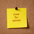 Sticker note remind time to action — Stock Photo #41304725