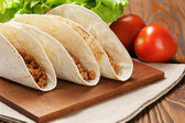 Tacos with beef and chilli — Stock Photo
