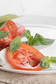 Light traditional caprese salad — Stockfoto