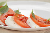 Light traditional caprese salad — Стоковое фото