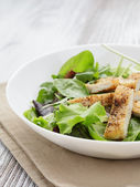 Roasted chicken with mix salad — Stock Photo