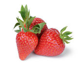 Fresh ripe whole strawberries — Zdjęcie stockowe