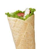 Tortilla chicken wrap — Stock Photo