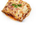 Hot freshly made home lasagna — Stock Photo