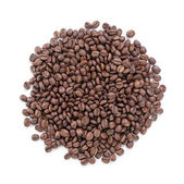 Heap of freshly roasted arabica coffee beans — Stock Photo