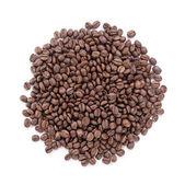 Heap of freshly roasted arabica coffee beans — Stock Photo