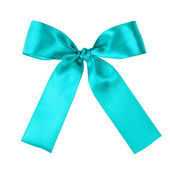 Turquoise blue ribbon to put on your present — Stock Photo