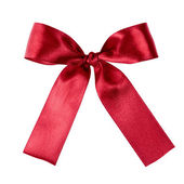 Deep red ribbon to put on your present — Stock Photo