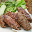 Traditional shish kebab from lamb meat — Stock Photo #50966811