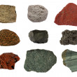 Stock Photo: Volcanic rocks collage