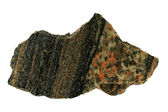 Gneiss and granite contact — Stock Photo