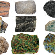 Selection of important metamorphic rocks — Stock Photo