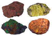 Collage of four mineral resources — Stock Photo