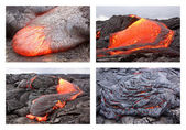 Lava flow in various forms — Stok fotoğraf