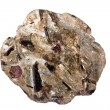 Stock Photo: Schist with almandine garnet, staurolite, kyanite, and muscovite