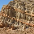 Mudstone and sandstone cliff — Stock Photo