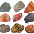 Stock Photo: Collage of sedimentary rocks