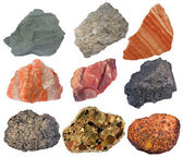 Collage of sedimentary rocks — Stock Photo
