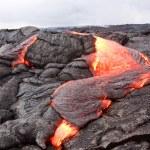 Active lava flow in Hawaii — Stock Photo