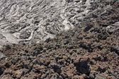 Aa and pahoehoe lava — Stock Photo