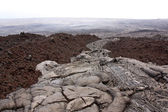 Aa and pahoehoe lava types — Stock Photo