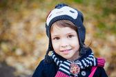 Zewnątrz portret mała dziewczynka — Zdjęcie stockowe