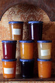 Jars of jam — Stock Photo