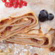 Apple strudel with raisins and pine nuts — Stock Photo #13165353