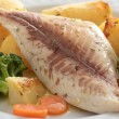 Roast fish fillet - Stock Photo