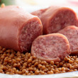 Cotechino trotter sausage with lentils — Stock Photo