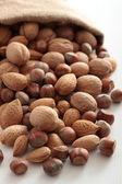 Nötter blandade nötter och hasselnötter — Stockfoto
