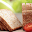 BREAD ON A TABLE FULL FOR TOST — Stock Photo