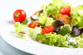 Mixed salad with tomatoes — Stock Photo