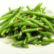 Salad of green beans with garlic and chilli — Stock Photo #20071129