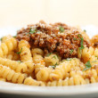 Stock Photo: Italian pasta with bolognese sauce