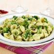 Italian pasta orecchiette with broccoli — Stock Photo #22213183