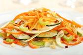Salada de legumes frescos corte — Fotografia Stock