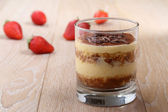 Dessert in glass tiramisu' — ストック写真