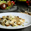 Mushroom salad boletus with cheese — Stock Photo