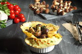 Omelette with mushroom — Stock Photo