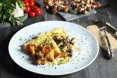 Italian pasta with mushroom — Stock Photo