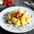 Boiled potato on gray table — Stock Photo #32013953