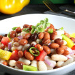 Salad beans green background — Stock Photo #33876557